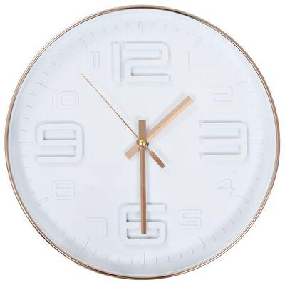vidaXL Ceas de perete, 30 cm, aspect cupru