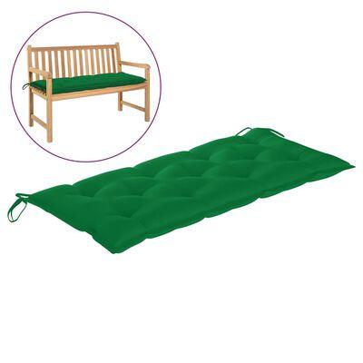 vidaXL Pernă pentru bancă de grădină, verde, 120x50x7 cm, textil