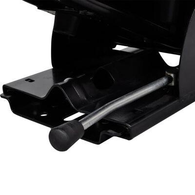 vidaXL Scaun de tractor cu suspensie, negru