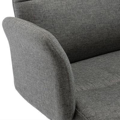 vidaXL Scaun de birou, gri închis, material textil