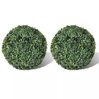 Arbuști ornamentali artificiali bilă pe tulpină,  2 buc., 27 cm