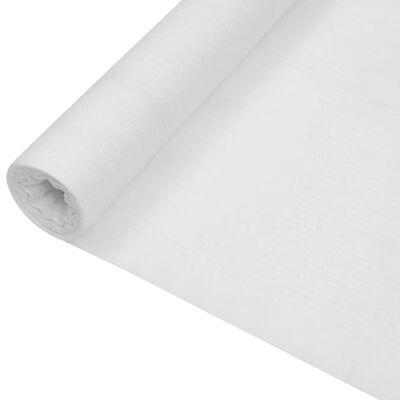 vidaXL Plasă protecție intimitate, alb, 1,2x10 m, HDPE, 195 g/m²