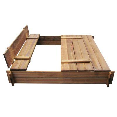 vidaXL Cutie de nisip, lemn tratat, pătrat
