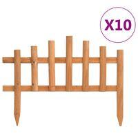 vidaXL Borduri de gazon, 10 buc., 4,4 m, lemn de brad