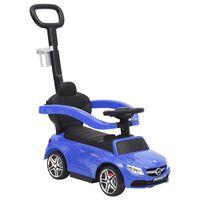 vidaXL Mașinuță cu împingere Mercedes-Benz C63, albastru
