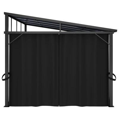 vidaXL Pavilion cu perdele, antracit, 405 x 294 x 244 cm