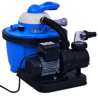 vidaXL Pompă filtru cu nisip, cu temporizator, 450 W 25 L