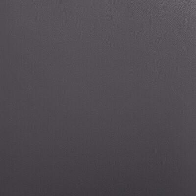 vidaXL Scaune de bucătărie, 4 buc., gri, piele ecologică