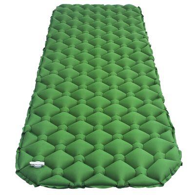 vidaXL Saltea gonflabilă, verde, 58x190 cm