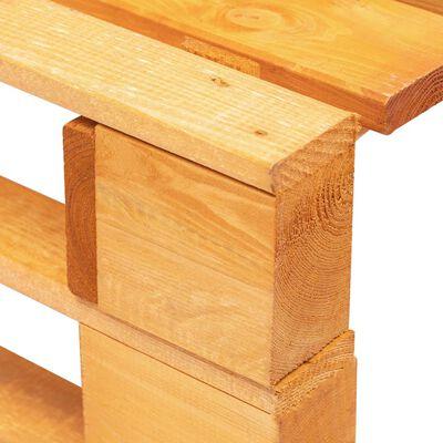 vidaXL Taburet din paleți de grădină, maro miere, lemn