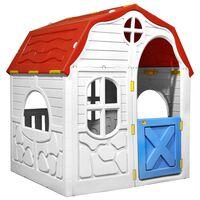 vidaXL Căsuță de joacă pliabilă copii cu ușă și ferestre funcționale