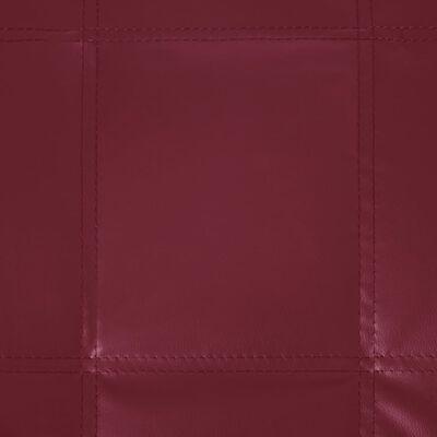 vidaXL Șezlong cu pernă, roșu vin, piele artificială