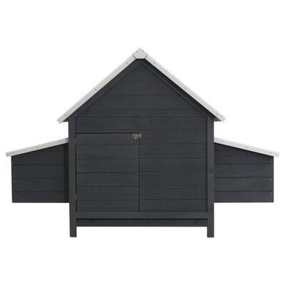 vidaXL Coteț pentru păsări, gri, 157 x 97 x 110 cm, lemn