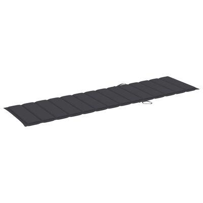 vidaXL Pernă de șezlong, antracit, 200 x 50 x 4 cm, material textil