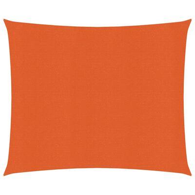 vidaXL Pânză parasolar, portocaliu, 2x2,5 m, HDPE, 160 g/m²