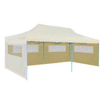 vidaXL Cort de petrecere pliabil pop-up, crem, 3 x 6 m