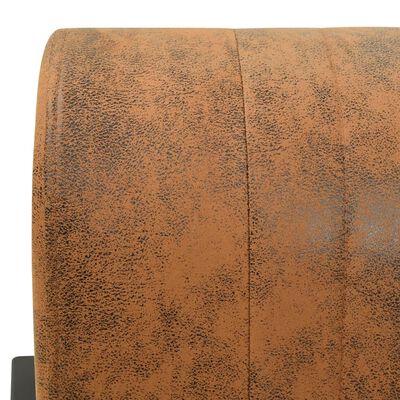 vidaXL Fotoliu, maro, material textil