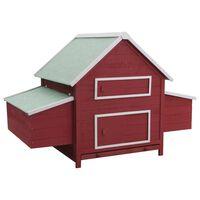 vidaXL Coteț pentru păsări, roșu, 157 x 97 x 110 cm, lemn