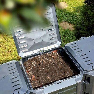 vidaXL Compostor de grădină, negru, 800 L