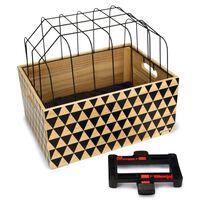 Beeztees Cușcă de transport câini pentru biciclete, lemn cu model