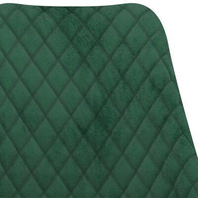 vidaXL Scaune de bucătărie, 6 buc., verde închis, catifea