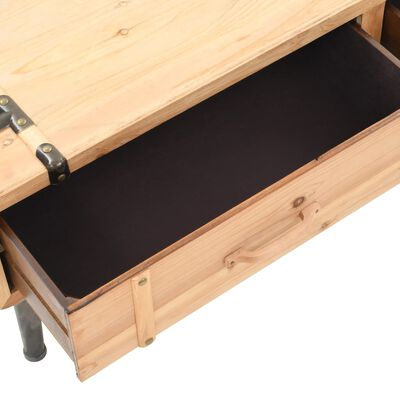 vidaXL Comodă TV, lemn masiv de brad, 120 x 33 x 35 cm