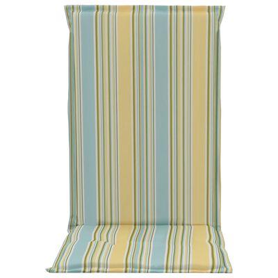 vidaXL Perne scaun grădină, imprimeu, 2 buc., multicolor, 120x50x3 cm