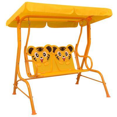 vidaXL Balansoar pentru copii, galben, 115 x 75 x 110 cm, textil