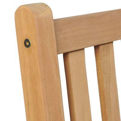vidaXL Scaune de grădină cu perne crem, 8 buc., lemn masiv de tec