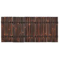 vidaXL Panou gard de grădină, maro închis, 170 x 75 cm, bambus
