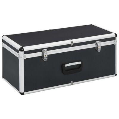 vidaXL Cutii de depozitare, 2 buc., negru, aluminiu