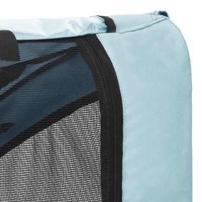 vidaXL Remorcă bicicletă pentru animale de companie, albastru & negru