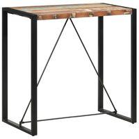 vidaXL Masă de bar, 110 x 60 x 110 cm, lemn masiv reciclat