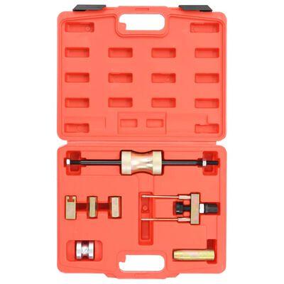 vidaXL Set scule de extragere a injectorului cu laser, oțel carbon
