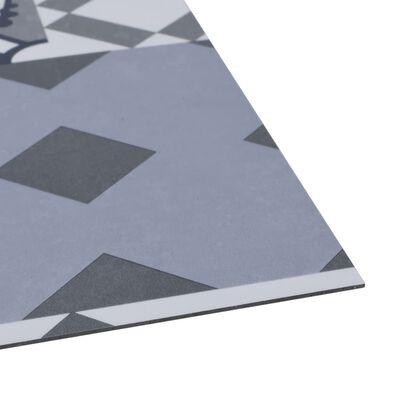 vidaXL Plăci de pardoseală autoadezive, model colorat, 5,11 m², PVC