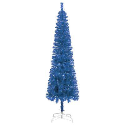 vidaXL Brad de Crăciun artificial subțire, albastru, 210 cm