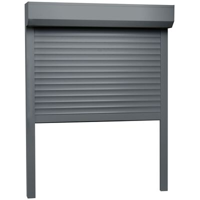 vidaXL Oblon rulant, antracit, 130 x 140 cm, aluminiu