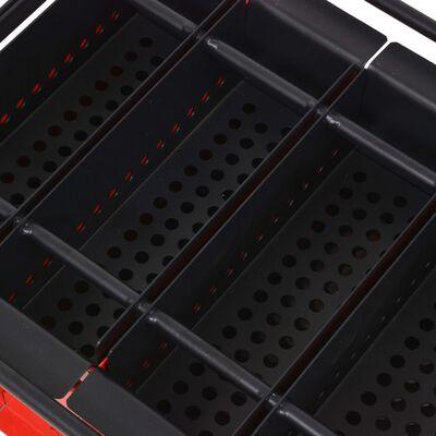 vidaXL Presă de bricheți din hârtie, oțel, 38x31x18 cm, Negru și roșu