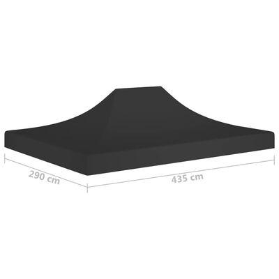 vidaXL Acoperiș pentru cort de petrecere, negru, 4,5 x 3 m, 270 g/m²