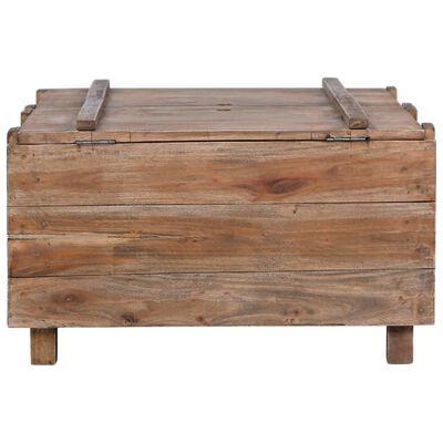 vidaXL Măsuță de cafea, 65 x 65 x 38 cm, lemn masiv reciclat