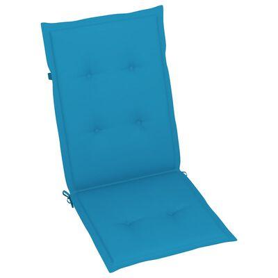 vidaXL Perne scaun de grădină, 4 buc., albastru, 120x50x4 cm
