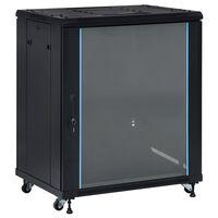 """vidaXL Dulap server, picioare pivotante, 18U 19"""" IP20 800x600x1000 mm"""