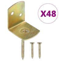 vidaXL Console pentru panou gard, formă L, 48 buc., metal galvanizat