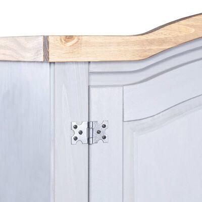 vidaXL Șifonier, gri, lemn de pin mexican, 2 uși, gama Corona