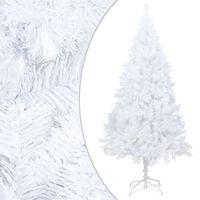 vidaXL Pom de Crăciun artificial cu ramuri groase, alb, 210 cm, PVC