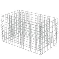 vidaXL Strat înălțat gabion, 90 x 50 x 50 cm, oțel galvanizat