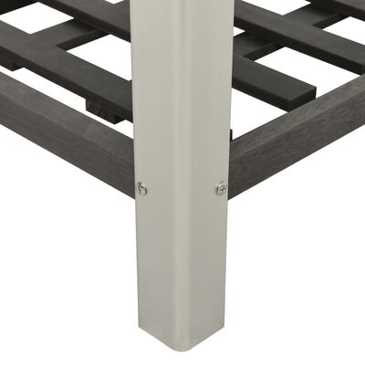 vidaXL Strat înălțat de grădină cu raft, gri, 150x50x90 cm, WPC