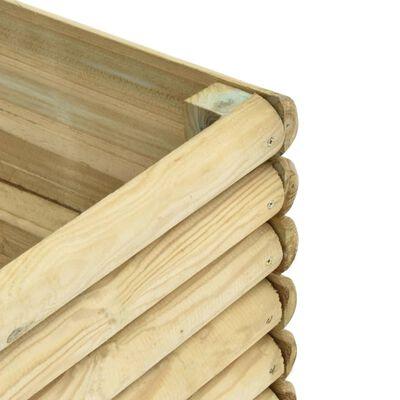 vidaXL Strat înălțat de grădină, 300x50x96 cm, lemn de pin tratat