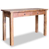 vidaXL Masă consolă, lemn masiv reciclat, 123 x 42 x 75 cm