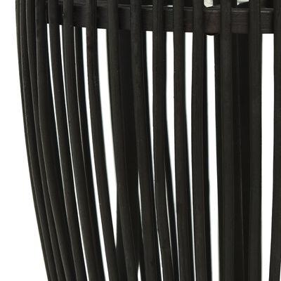 vidaXL Lampă suspendată, negru, 25x62 cm, răchită, 40 W, oval, E27